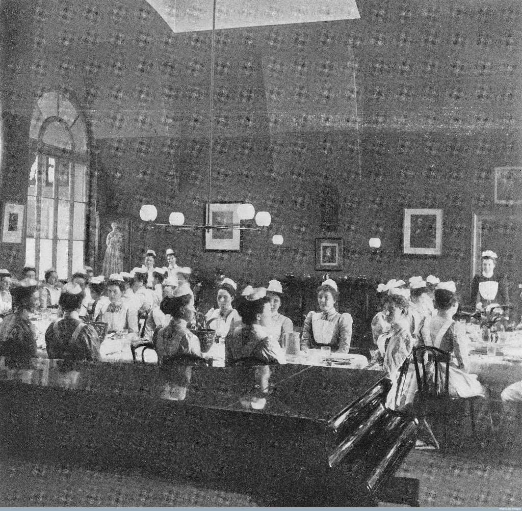 Florence Nightingale introduced formal nursing training school in 1860.